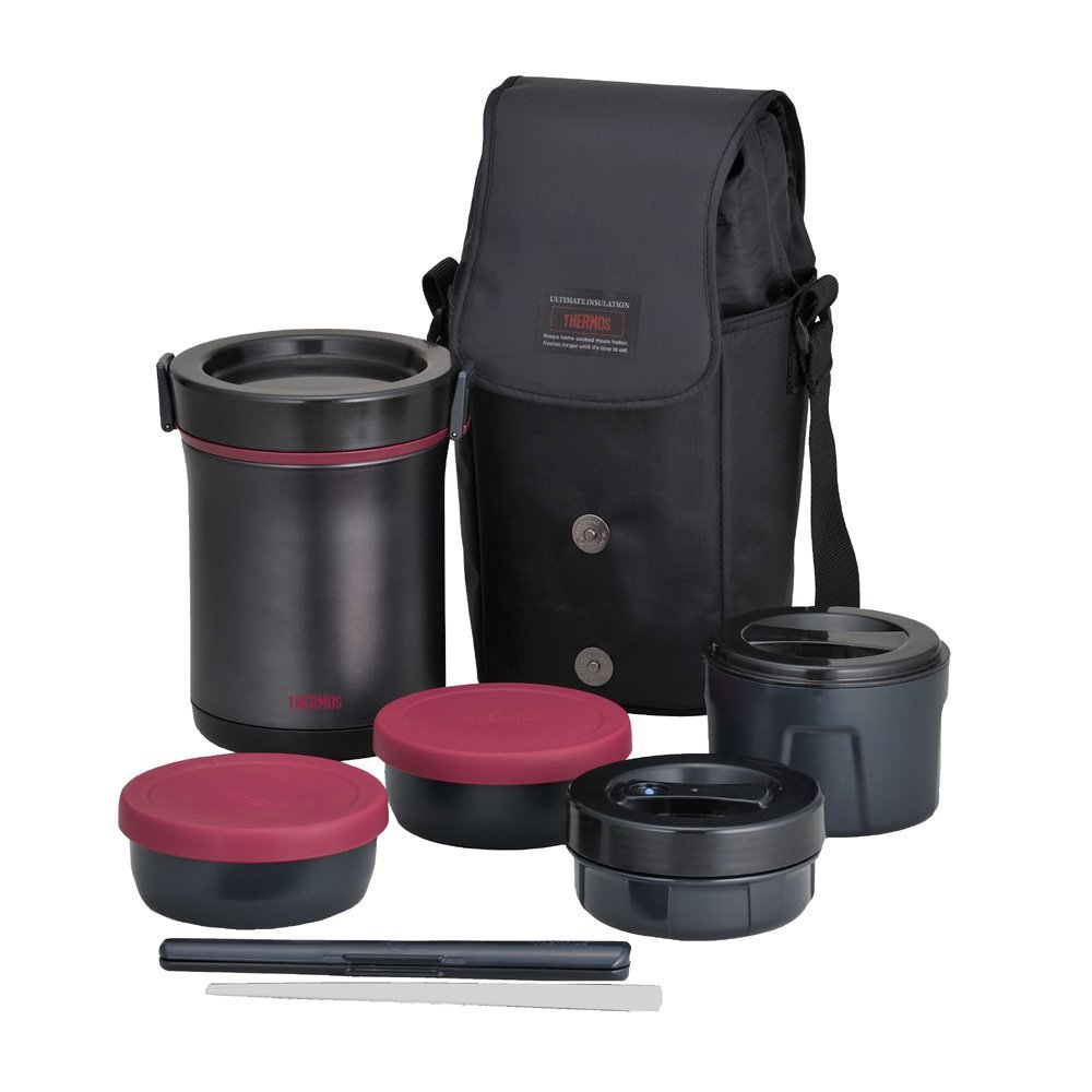 thermos hot lunch heat retention lunch bento box set jbe. Black Bedroom Furniture Sets. Home Design Ideas