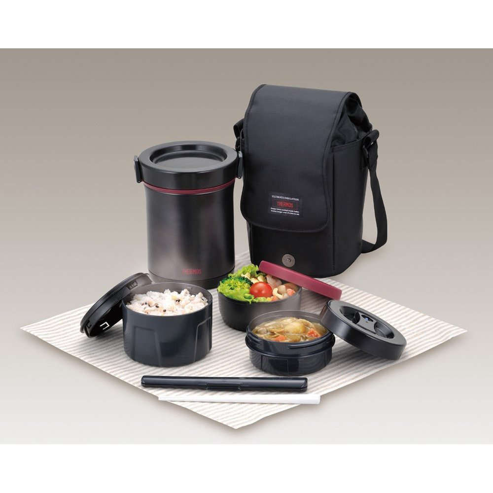 thermos hot lunch heat retention lunch bento box set jbe 1600f japan import ebay. Black Bedroom Furniture Sets. Home Design Ideas